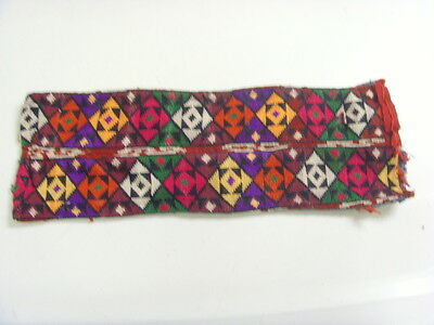 1800s antique magic square wicca occult tapestry embroidery amulet casing 48366
