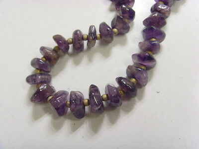 1950s vintage hand crafted necklace amethyst free form beads belly dance 48415