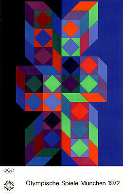 Vasarely Olympia 1972 Signed