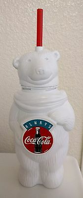 Vintage Adorable 'Coca-Cola' Large Plastic Polar Bear Cup