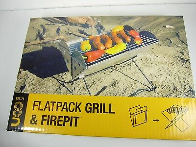 UCO Brand Flatpack Portable Grill & Fire Pit Stainless Steel Camping UNOPENED