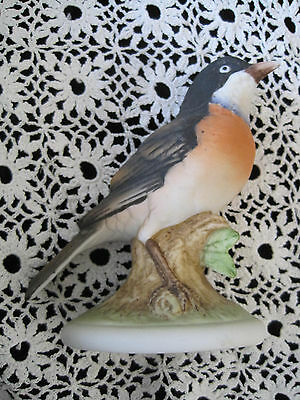 "Lefton Robin Bird Hand Painted 4.5"" Japan"