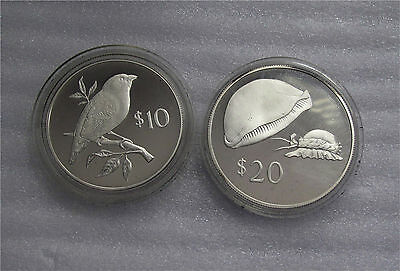 2017 Fiji COLLARED LORY Sterling SILVER Proof Coin in Box with COA 2 Dollars