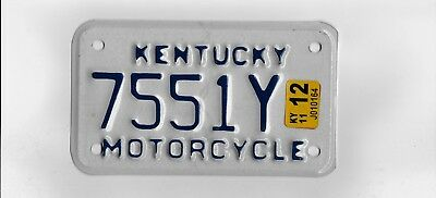 "KENTUCKY 2011 license plate ""7551Y"" ***MOTORCYCLE***MINT***"
