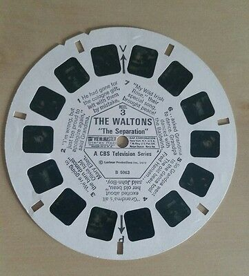 The Waltons Viewmaster Reel X1. 3D Pictures. Vintage. 'The Separation' Reel 3.
