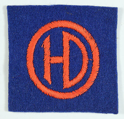 51st (Highland) Division WW2 Embroidered Formation Sign Badge - Paste Back