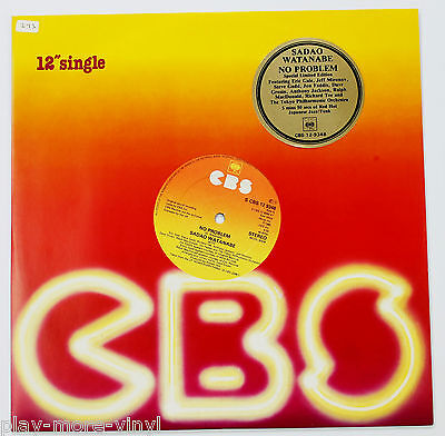 "SADAO WATANABE No Problem / All About Love 12"" UK 1980 CBS 129348  playsNM!"