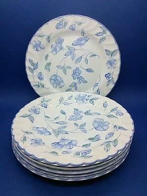 "6 x British Home Stores BHS BRISTOL BLUE Tea Side PLATE 7""  Made in Britain"