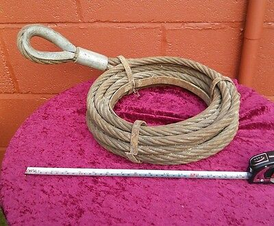 10 Metre 15mm Extremely Heavy Duty  Tow Cable Lorry, Truck, Boat, Bus, Loop End