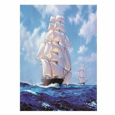 "Diamond Painting - Diamant Malerei - Stickerei - ""Segelboot"" - Set - Neu (760)"