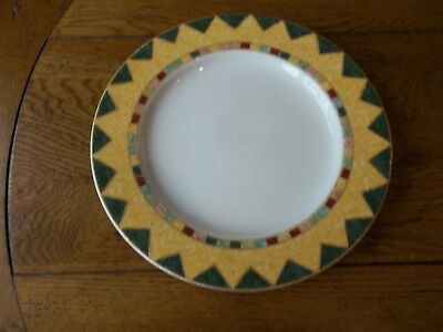"""Royal Doulton Japora  11"""" Dinner Plate with Yellow Band"""