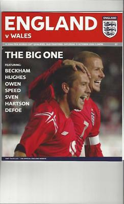 England v Wales 2004 Football Programme @ Manchester United
