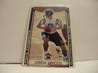Pacific Vanguard 2001 Rookie (RC) #28 Drew Brees QB CHARGERS
