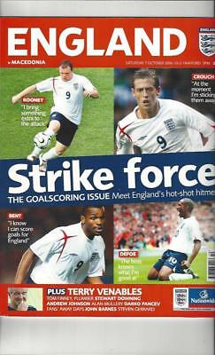 England v Macedonia 2006 Football Programme @ Manchester United