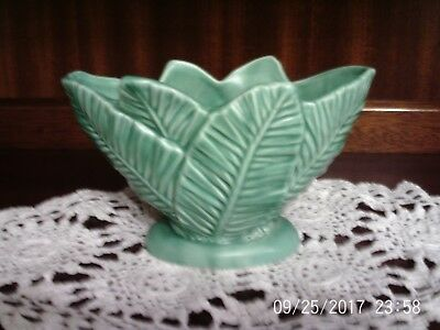 Green Sylvac Bowl Backstamped 3716 Palm Leaf design Ex Cond FREE Sylvac Pot