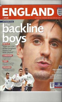 England v Spain 2007 Football Programme @ Manchester United