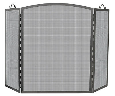 """Uniflame 3 Panel Olde World Iron Arch Top Screen - 32"""" x 52"""""""