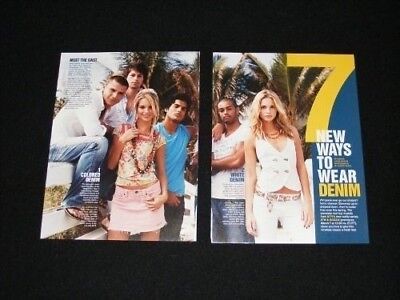 8TH AND OCEAN magazine clippings 2006 fashion editorial Ways too wear denim