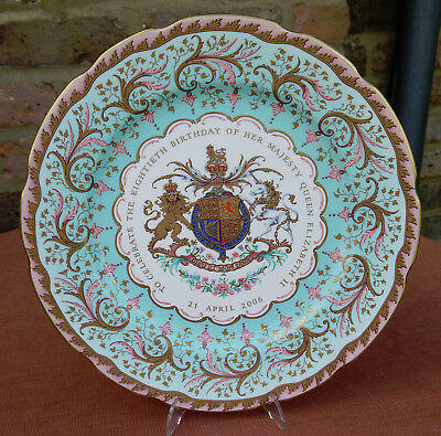 """The Royal Collection """"Queen Elizabeth 80th Birthday"""" Ltd Edition 11.75""""  Plate"""