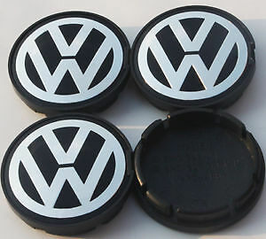 4 PCS 55mm Alloy Wheel Center Caps Hub Cap for VW Golf Fox Lupo Polo WCC-VW002
