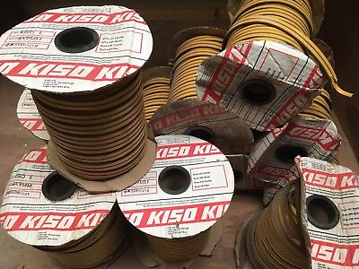 Kiso E 4 X 9MM Draught Excluder Tape Foam Seal Strip Brown joblot of over 350m