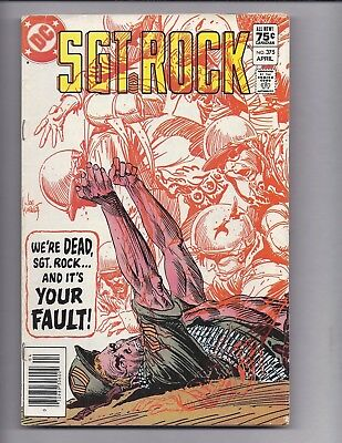 Canadian Newsstand Edition $0.75 Price Variant SGT Rock #375