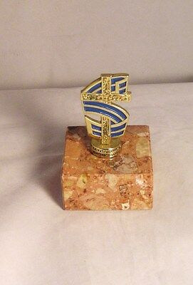 """Salvation Army -  SCANDANAVIAN FLAG TOPPER"""" MOUNTED ON SOLID GRANITE"""