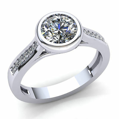 Natural 0.33ct Round Cut Diamond Ladies Solitaire Engagement Ring 14K Gold