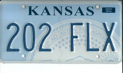 USA American licence plate, number plate, KANSAS   h