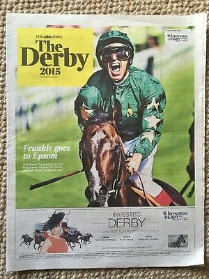 The Times Investec Derby 2015 12-Page Guide Horse Racing Dettori Epsom Mccoy