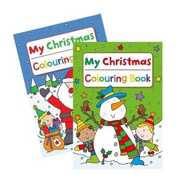 1 x My CHRISTMAS KIDS COLOURING BOOKS BOOK FUN PICTURES A4 STOCKING FILLER SANTA