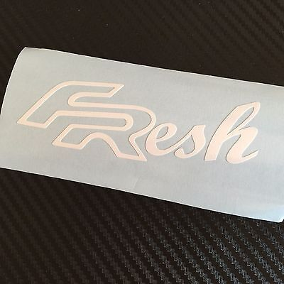 WHITE FResh Car Sticker Decal Seat FR Cupra