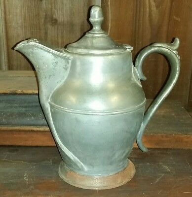 Antique 1859 Silver Pewter Pitcher