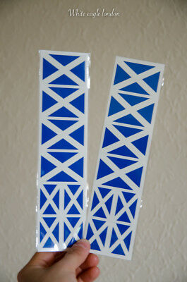 16 x Scotland Flag temporary face tattoo Rugby Football fans favourite