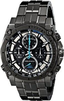 Bulova Men's Precisionist Analog Display Japanese Quartz Gunmetal Watch 98B229
