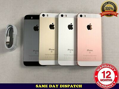 Grade B Apple iPhone SE 16GB 64GB 128GB Unlocked SILVER ROSE BLACK GOLD A1723
