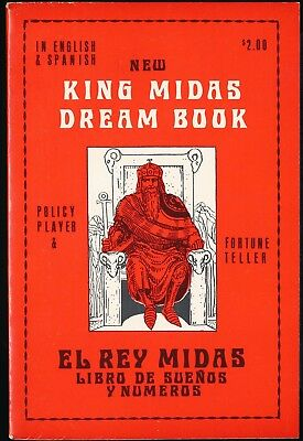 KING MIDAS DREAM BOOK 1972 Policy Player & Fortune Teller Paperback NEAR MINT