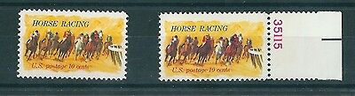 USA Postage Stamps Horses Rounding Turn 1974