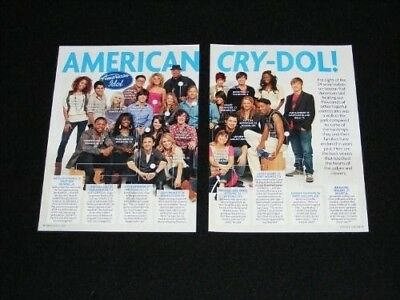 AMERICAN IDOL magazine clippings lot No2