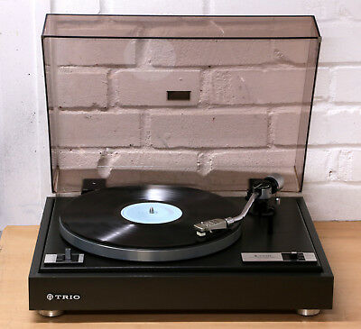 TRIO KD-1033 Hi-Fi Vintage record player turntable 33 45 RPM Goldring cart NR
