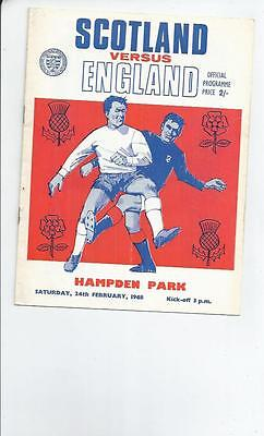 Scotland v England 1968 International Football Programme