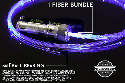 Incredible Light show Fiber Optic End Glow Fibers portable AAA flow whip EDM USA