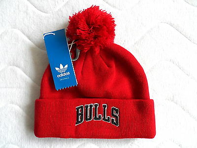 ADIDAS CHICAGO BULLS NBA Red BEANIE TUQUE TAGS OSFM or OSFL Basketball USA Tags