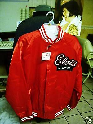 ELVIS PRESLEY CONCERT JACKET extra Large  with concert photos  Nice