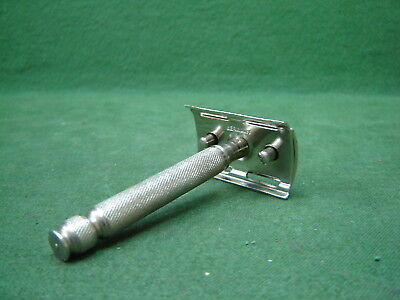 Vintage Pre War WW2 Metal Safety Razor Marked Germany With Metal Blade Holder