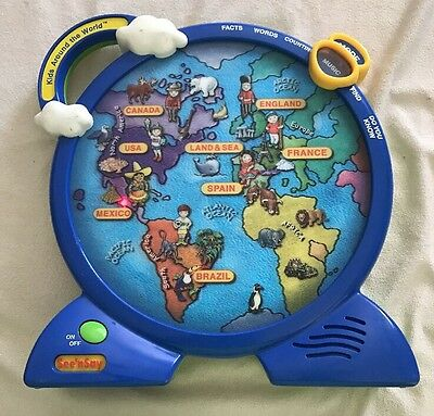 See 'n Say Kids Around The World Dbl. Sided 3D Multilingual Geography Toy