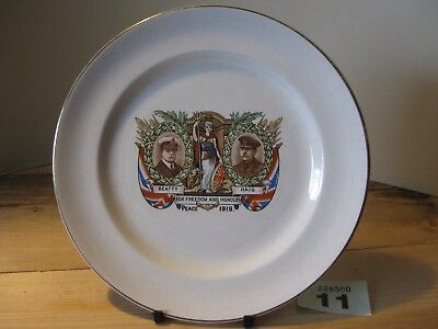 Grimwades Beatty and Haig For Freedom and Honour Peace 1919 Commemorative Plate