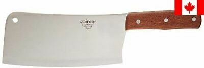 Winco Heavy Duty Cleaver with Wooden Handle, Stainless Steel