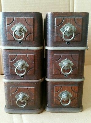 6 Very Nice Antique Treadle Sewing Machine Drawers Quarter Sawn Oak Good Pulls
