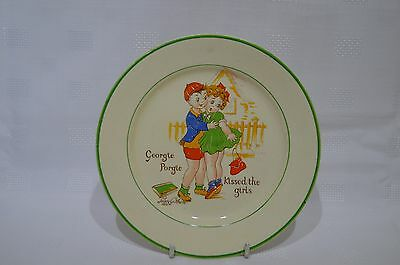 """Midwinter Peggy Gibbons 7"""" Georgie Porgie Kissed The Girls Plate"""